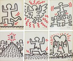 Keith Haring Complete Suite of Six Keith Haring Offset Lithographs Bayer Suite 1982 - 458901