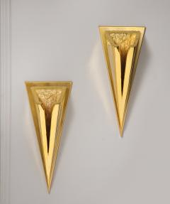 Kelly Kiefer Pair of Polished 24k Gold Plated Sconces by Kelly Kiefer - 881922