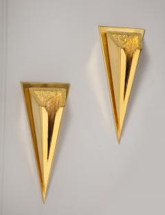 Kelly Kiefer Pair of Polished 24k Gold Plated Sconces by Kelly Kiefer - 881923