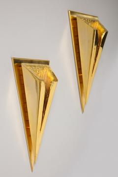 Kelly Kiefer Pair of Polished 24k Gold Plated Sconces by Kelly Kiefer - 881926