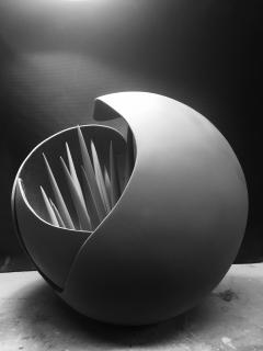 Kelly Kiefer Patientia Sphere Sculpture and or Occasional Table - 417279