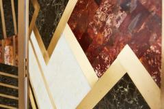Kelly Wearstler Custom Kelly Wearstler Marble and Brass Geometric Screen from Viceroy Miami - 1088830