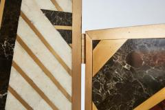 Kelly Wearstler Custom Kelly Wearstler Marble and Brass Geometric Screen from Viceroy Miami - 1088833