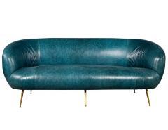 Kelly Wearstler Kelly Wearstler Modern Leather Settee Sofa - 1550693