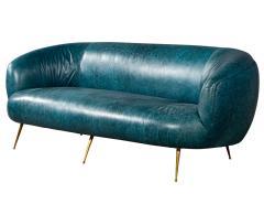 Kelly Wearstler Kelly Wearstler Modern Leather Settee Sofa - 1550695