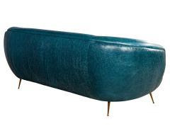 Kelly Wearstler Kelly Wearstler Modern Leather Settee Sofa - 1550698