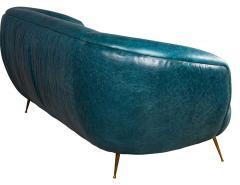 Kelly Wearstler Kelly Wearstler Modern Leather Settee Sofa - 1550700