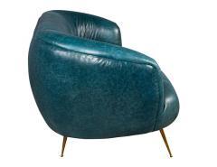 Kelly Wearstler Kelly Wearstler Modern Leather Settee Sofa - 1550701
