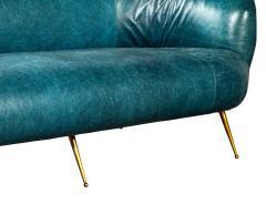 Kelly Wearstler Kelly Wearstler Modern Leather Settee Sofa - 1550702