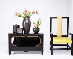 Kelly Wearstler Pair of Kelly Wearstler High Back Chairs - 608943