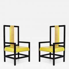 Kelly Wearstler Pair of Kelly Wearstler High Back Chairs - 610991