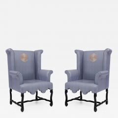 Kelly Wearstler Pair of Kelly Wearstler Wingback Chairs - 682764