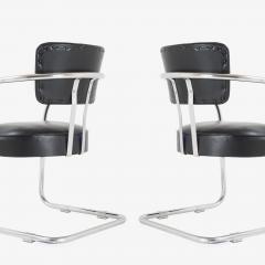 Kem Weber Art Deco Accent Chairs in Black by Kem Weber for Lloyd Pair - 1367185