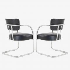 Kem Weber Art Deco Accent Chairs in Black by Kem Weber for Lloyd Pair - 1367186
