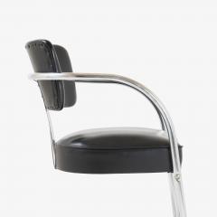 Kem Weber Art Deco Accent Chairs in Black by Kem Weber for Lloyd Pair - 1367189