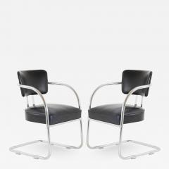 Kem Weber Art Deco Accent Chairs in Black by Kem Weber for Lloyd Pair - 1369318