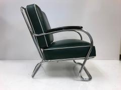 Kem Weber Pair of KEM Weber for Lloyd Tubular Chrome Lounge Chairs - 449751