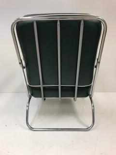 Kem Weber Pair of KEM Weber for Lloyd Tubular Chrome Lounge Chairs - 449752