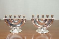 Kem Weber Rare Pair of Five Light Candelabra Attributed to KEM Weber - 1860215