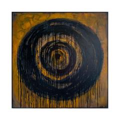 Kennan Del Mar Black Hole on Yellow Gold Painting Oil and Pastel on Canvas - 1468939