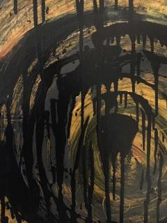 Kennan Del Mar Black Hole on Yellow Gold Painting Oil and Pastel on Canvas - 1468942