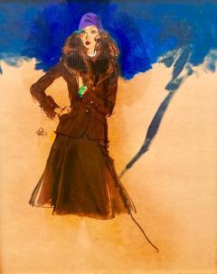 Kenneth Paul Block Woman with Purple Hat  - 1079493