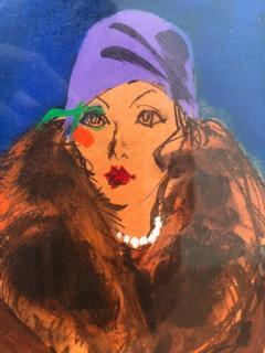Kenneth Paul Block Woman with Purple Hat  - 1079494