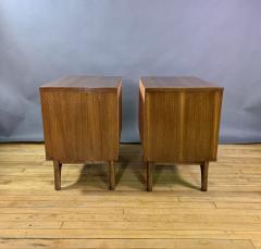 Kent Coffey Pair Kent Coffey Walnut Nightstands 1960s Insignia - 1805944