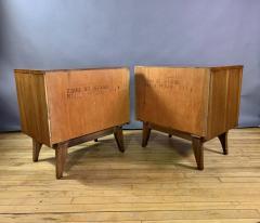 Kent Coffey Pair Kent Coffey Walnut Nightstands 1960s Insignia - 1805949