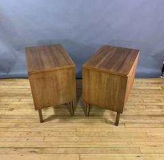 Kent Coffey Pair Kent Coffey Walnut Nightstands 1960s Insignia - 1805950