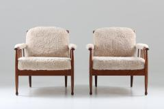 Kerstin H rlin Holmquist Pair of Swedish Lounge Chairs Skrindan by Kerstin H rlin Holmquist for OPE - 1143486