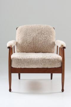 Kerstin H rlin Holmquist Pair of Swedish Lounge Chairs Skrindan by Kerstin H rlin Holmquist for OPE - 1143488