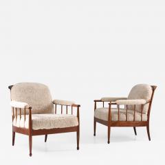Kerstin H rlin Holmquist Pair of Swedish Lounge Chairs Skrindan by Kerstin H rlin Holmquist for OPE - 1143773