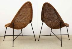 Kerstin H rlin Holmquist Pair of rattan and iron chairs - 1208554