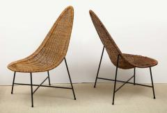 Kerstin H rlin Holmquist Pair of rattan and iron chairs - 1208558