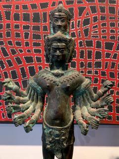 Khmer Bronze Brahma Statue Cambodia - 1191022