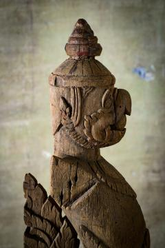 Khmer Carved Wood Garuda - 342317