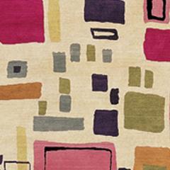Kim Parker Modern Pattern Wool Manhattan Indian Rug - 920897