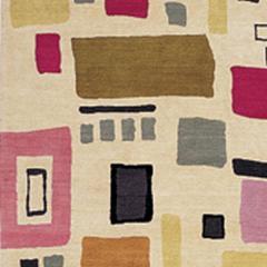 Kim Parker Modern Pattern Wool Manhattan Indian Rug - 920899