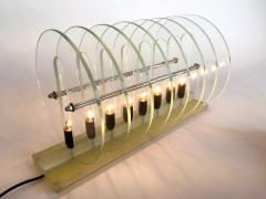 Kinetic Optic Italian Design Glass Disc Lucite Lamp Italy 1980s - 523771