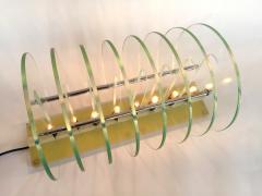 Kinetic Optic Italian Design Glass Disc Lucite Lamp Italy 1980s - 523774