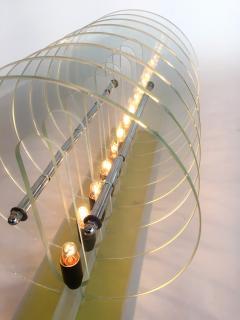 Kinetic Optic Italian Design Glass Disc Lucite Lamp Italy 1980s - 523775
