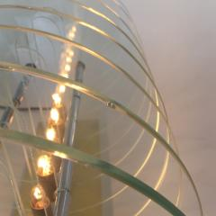 Kinetic Optic Italian Design Glass Disc Lucite Lamp Italy 1980s - 523777