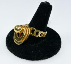 Kinetic Spinning Gold Ring - 438604