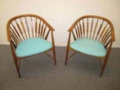 Kipp Stewart Handsome Pair of Kipp Stewart Declaration Lounge Chairs Mid Century Modern - 1843512