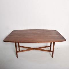 Kipp Stewart Mid Century Modern Rare Walnut Drop Leaf Dining Table by Kipp Stewart for Drexel - 1184893