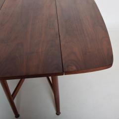 Kipp Stewart Mid Century Modern Rare Walnut Drop Leaf Dining Table by Kipp Stewart for Drexel - 1184895