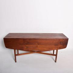 Kipp Stewart Mid Century Modern Rare Walnut Drop Leaf Dining Table by Kipp Stewart for Drexel - 1184896
