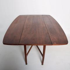 Kipp Stewart Mid Century Modern Rare Walnut Drop Leaf Dining Table by Kipp Stewart for Drexel - 1184897