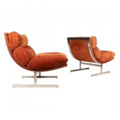Kipp Stewart Pair of Lounge Chairs by Kipp Stewart for Directional - 976316
